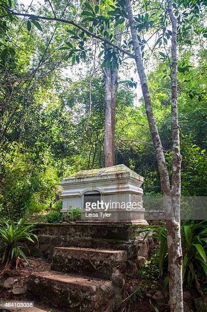 The tomb of Henri Mouhot French naturalist and explorer of the mid19th century who died of malaria outside of Luang Prabang in 1861