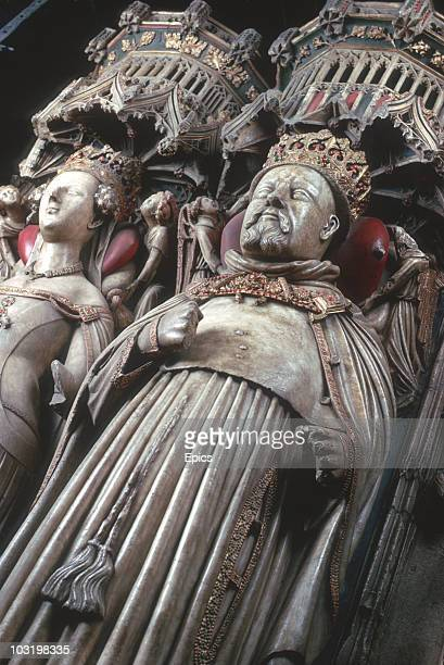 The tomb of Henry IV Of England in Canterbury Cathedral Kent November 1974