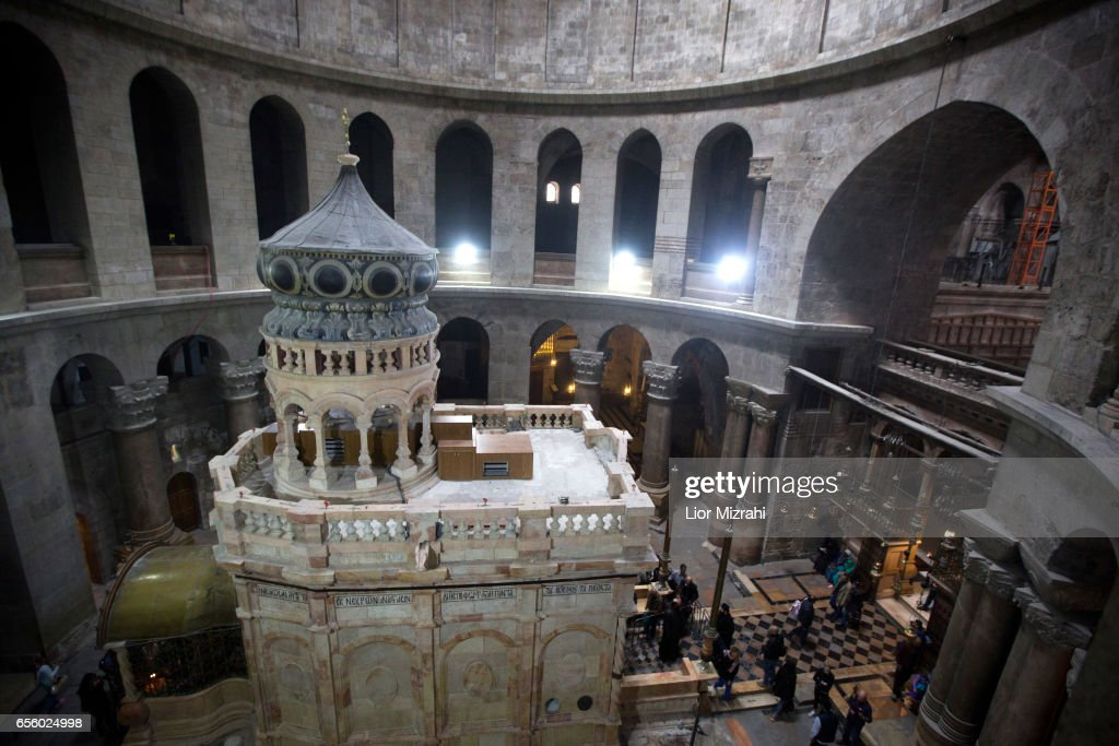 Jesus' Tomb To Be Unveiled After $4 Million Renovation Project : News Photo