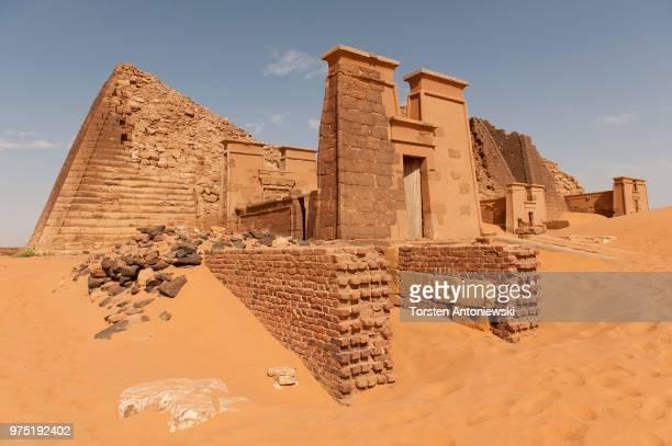The tomb of Queen Shanakdakhete, pyramids of the north cemetery of Meroe, Nubia, Nahr an-Nil, Nubian Desert, Sudan