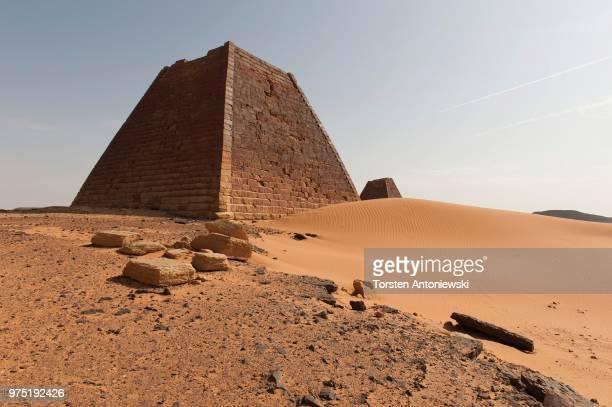 The tomb of Queen Shanakdakhete, pyramids of the north cemetery of Meroe, Nubian Desert, Nubia, Nahr an-Nil, Sudan