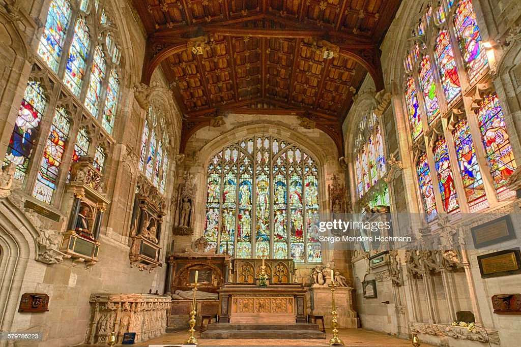 The tomb of Shakespeare, Stratford-upon-Avon, UK : Stock Photo