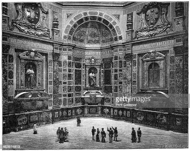 The tomb of the last of the Medici family, Chapel of the Medici, San Lorenzo Basilica, Florence, Italy, 1882. From Florence, by Charles Yriarte,...