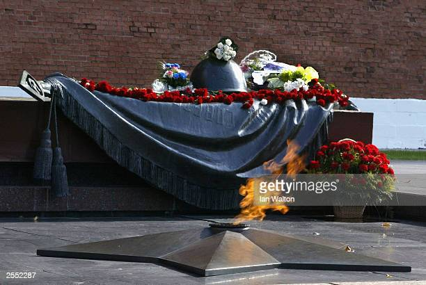 The Tomb of the Unknown Soldier at the north end of Red Square is seen September 26, 2003 in Moscow.