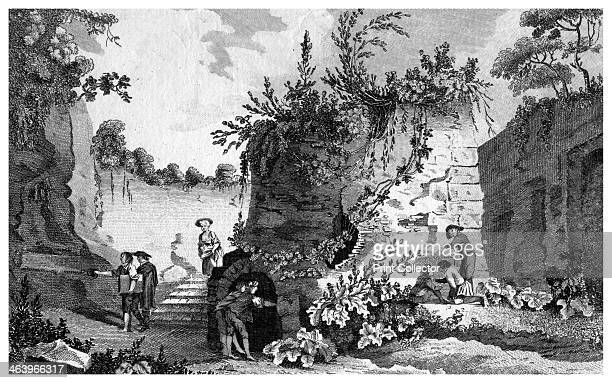 The tomb of Virgil near Naples Italy 1788