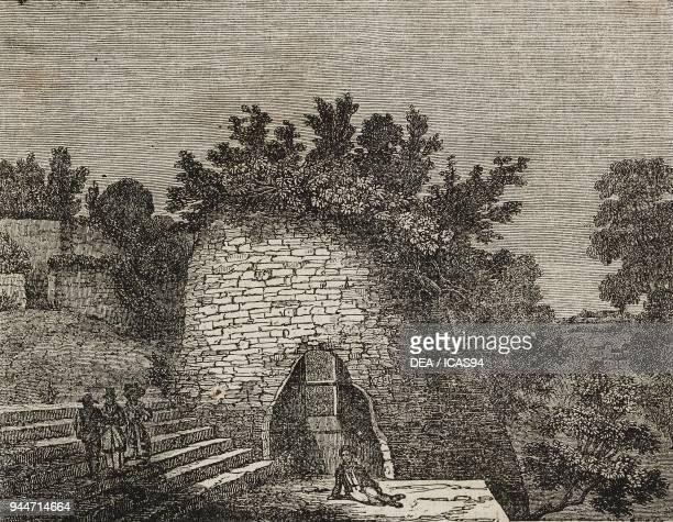 The Tomb of Virgil Parco Vergiliano in Piedigrotta Naples Italy illustration from Teatro universale Raccolta enciclopedica e scenografica No 147...