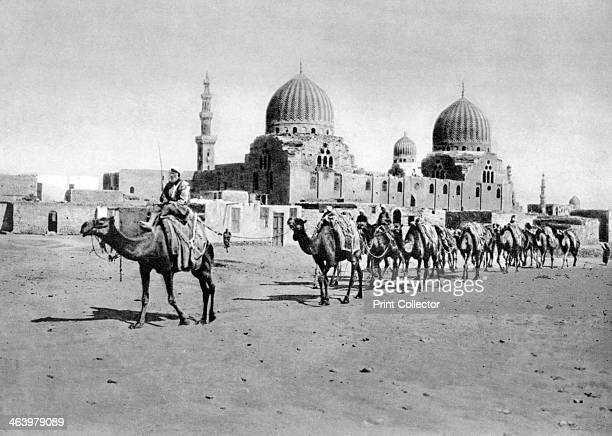 The Tombs of the Califs Cairo Egypt c1920s Plate taken From In the Land of the Pharaohs published by Lehnert Landrock