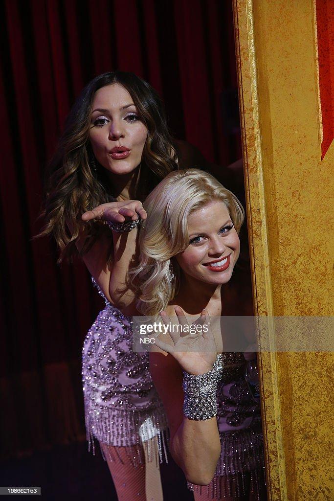 SMASH -- 'The Tonys' Episode 217 -- Pictured: (l-r) Katharine McPhee as Karen Cartwright, Megan Hilty as Ivy Lynn --