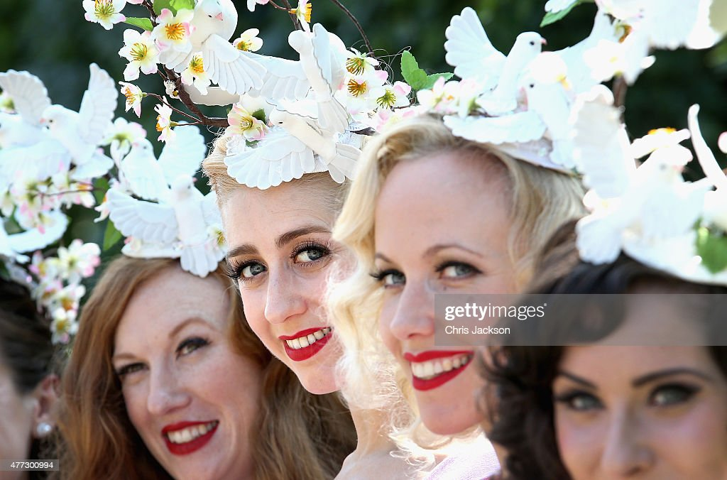 The Tootsie Rollers arrive for day 1 of Royal Ascot at Ascot Racecourse on June 16, 2015 in Ascot, England.