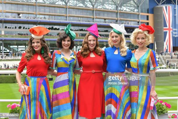 Kate Garraway attends day 1 of Royal Ascot at Ascot Racecourse on June 19 2018 in Ascot England