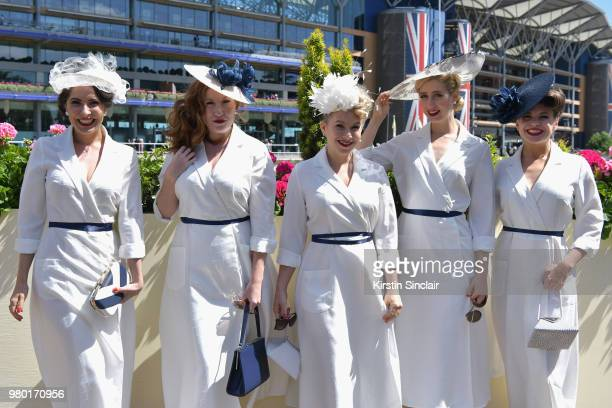 The Tootsie Rollers attend day 3 of Royal Ascot at Ascot Racecourse on June 21 2018 in Ascot England