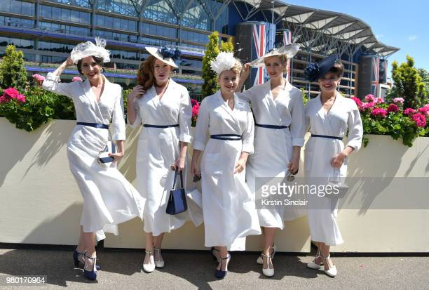 Kimberley Garner attends day 3 of Royal Ascot at Ascot Racecourse on June 21 2018 in Ascot England