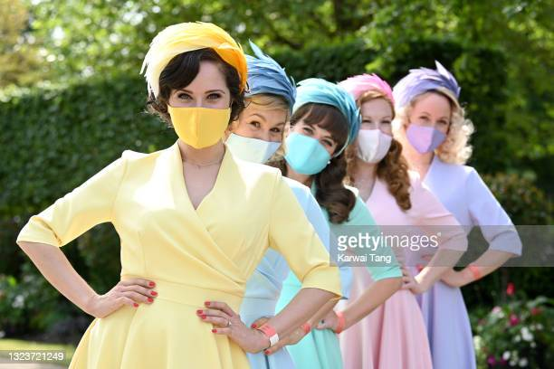 The Tootsie Rollers attend day one of Royal Ascot 2021 at Ascot Racecourse on June 15, 2021 in Ascot, England.