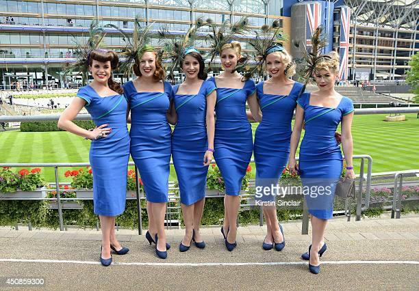 The Tootsie Rollers attend day three of Royal Ascot at Ascot Racecourse on June 19 2014 in Ascot England