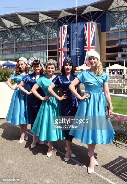 The Tootsie Rollers attend Royal Ascot 2017 at Ascot Racecourse on June 21 2017 in Ascot England