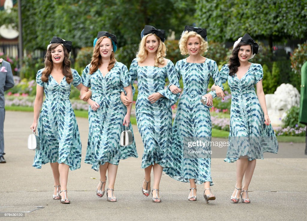 The Tootsie Rollers attend Royal Ascot Day 2 at Ascot Racecourse on June 20, 2018 in Ascot, United Kingdom.