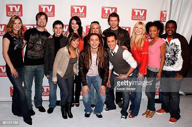 The top 12 American Idol contestants attend the American Idol Top 12 Party at the Pacific Design Center on March 6 2008 in West Hollywood California