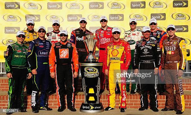 The Top 12 NASCAR Sprint Cup Series drivers Matt Kenseth, Greg Biffle, Denny Hamlin, Carl Edwards, Dale Earnhardt Jr., Jeff Burton, Jeff Gordon,...