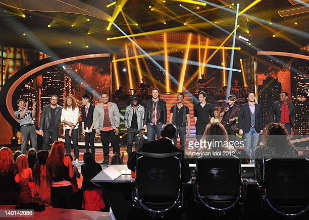 The top 13 guy contestants Reed Grimm Adam Brock DeAndre Brackensick Colton Dixon Jeremy Rosado Aaron Marcellus Chase Likens Creighton Fraker Phillip...