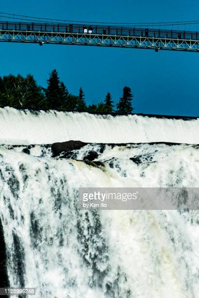 the top of montmorency falls - ken ilio stock photos and pictures