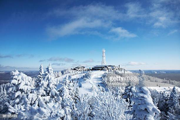 the top of mt. tremblant. - mont tremblant stock pictures, royalty-free photos & images
