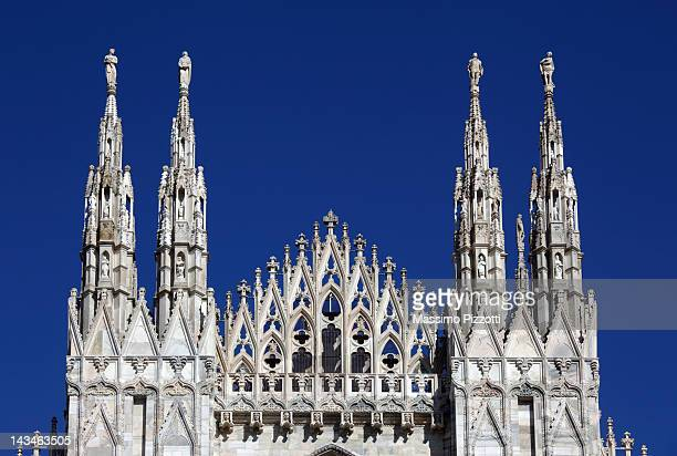 The top of the Duomo of Milan
