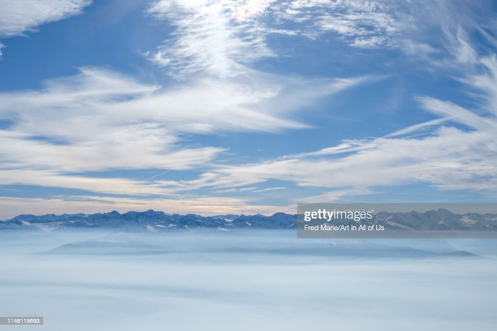 The top of the mountains in ayer, Valais, Ayer, Suisse... : News Photo