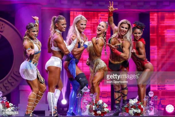 The top six finishers Ariel Khadr Bethany Wagner Whitney Jones Kate Errington Regiane Da Silva and Derina Wilson celebrate following Fitness...