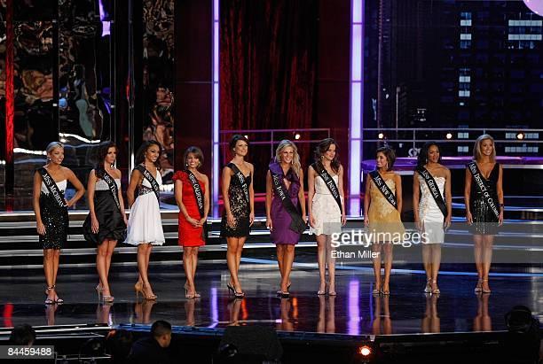 The top ten finalists Ashlee Baracy Miss Michigan Ellen Carrington Miss Tennessee Nicole Fox Miss Hawaii Jackie Geist Miss California Sierra Minott...