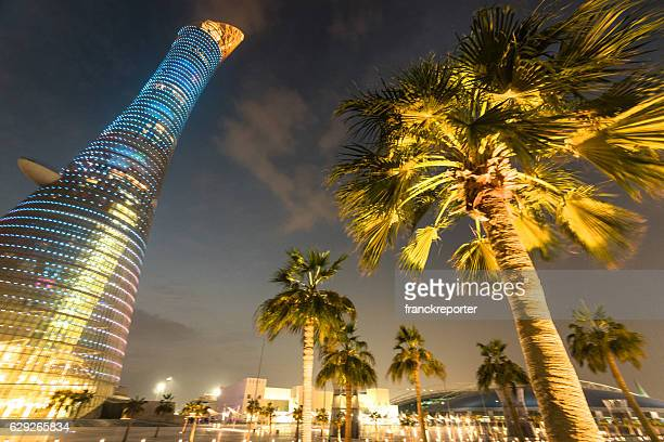 the torch doha, aspire tower - international soccer event stock pictures, royalty-free photos & images