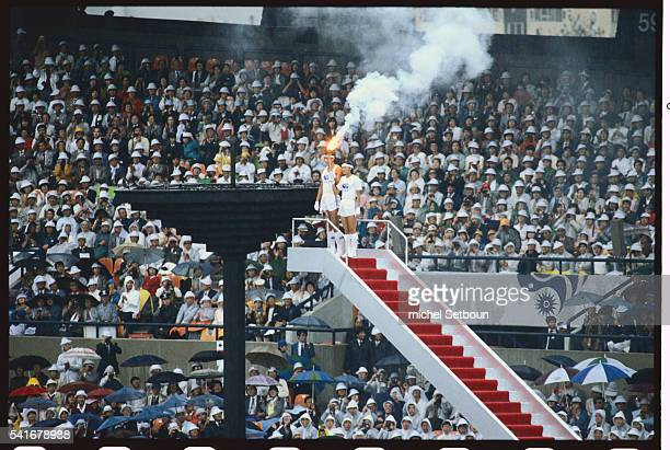 The torch is lit at the opening ceremony of the 1986 Asian Games in Seoul, South Korea. The Asian Games, first held in 1951, are designed to promote...