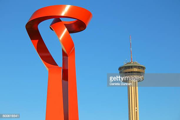CONTENT] The Torch of Friendship and the Tower of Americas two iconic landmarks in San Antonio Texas