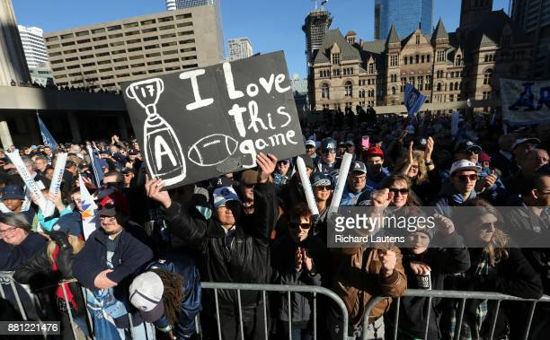 TORONTO ON NOVEMBER 28 The Toronto Argonauts football club celebrated their Grey Cup victory over the Calgary Stampeders at Nathan Phillips Square...