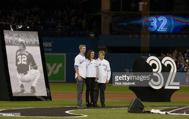 The Toronto Blue Jays honoured former pitcher Roy Doc Halladay before today's game Hallady died last year in a single plane crash in Florida Brandy...