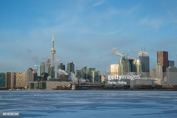 The Toronto harbour freezes over as the city is on track to have the secondcoldest winter in 25 years January 23 2014