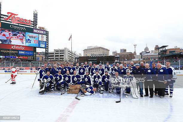 The Toronto Maple Leafs Alumni gather for a team picture before the 2014 Bridgestone NHL Winter Classic Alumni Game One against the Detroit Red Wings...