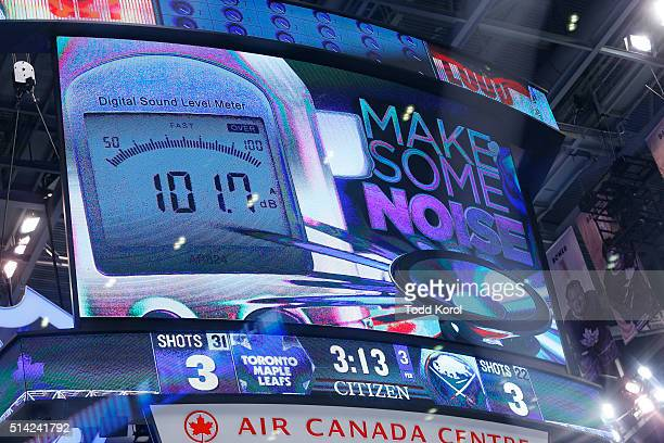 The Toronto Maple Leafs noise meter during the third period in their NHL hockey game against the Buffalo Sabres at the Air Canada Centre in Toronto...