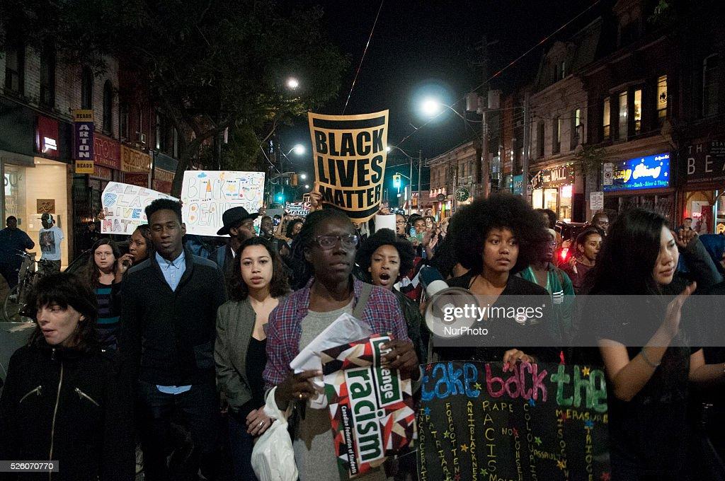 Black Lives Matter in Toronto, Canada : News Photo