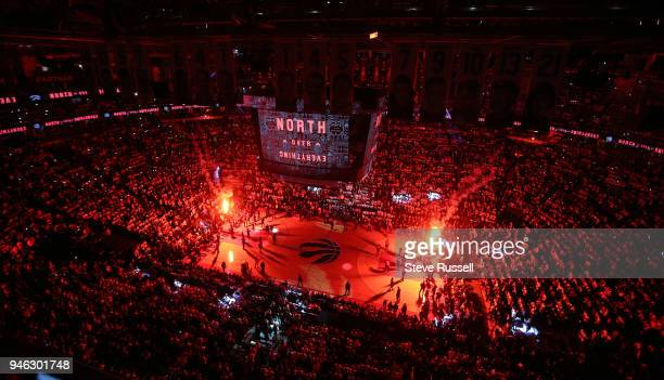 TORONTO ON APRIL 14 The Toronto Raptors open the first round of the NBA playoffs aginst the Washington Wizards at the Air Canada Centre in Toronto...