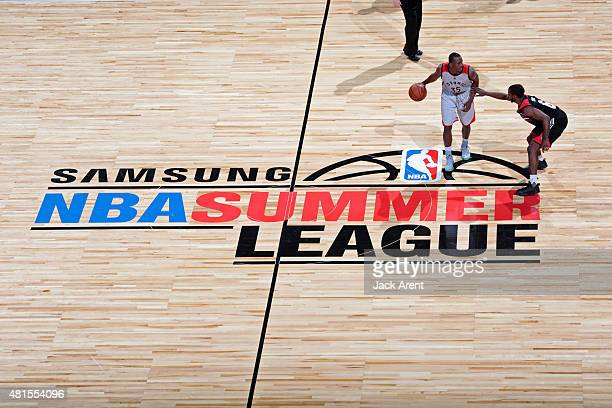 The Toronto Raptors play against the Portland Trail Blazers on July 17 2015 at the Thomas Mack Center in Las Vegas Nevada NOTE TO USER User expressly...