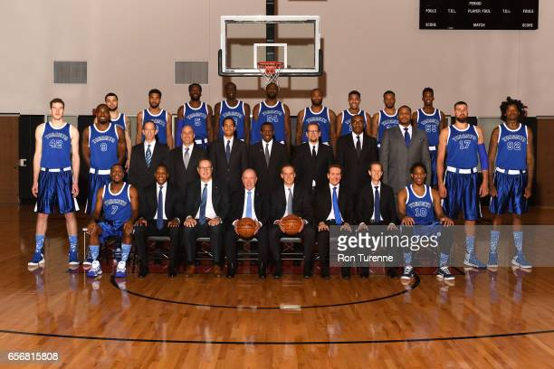 The Toronto Raptors pose for their 20162017 team photo at the Air Canada Centre in Toronto Ontario Canada on March 2 2017 NOTE TO USER User expressly...