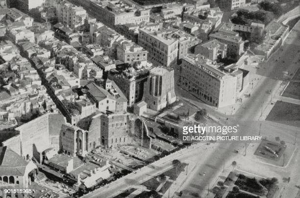 The Torre dei Conti isolated from the other buildings after the opening of the via dei Fori Imperiali seen from above Rome Italy photo from...