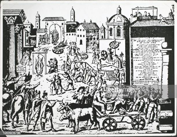 The torture and execution of accused plague spreaders in Milan Italy 1630 This plague was thought to be the end of the world Before it was known that...