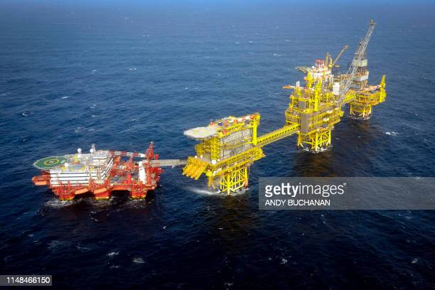 The Total Culzean platform is pictured on the North Sea, about 45 miles east of the Aberdeen, Europe's self-proclaimed oil capital on Scotland's...