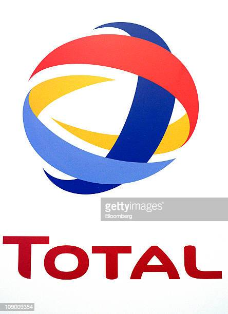 The Total SA company logo is displayed in Paris France on Friday Feb 11 2011 Total SA said Petroplus Holdings AG is one of three candidates to buy...