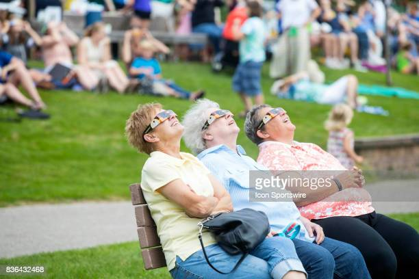 The Total Solar Eclipse party at the Benzie Shores Library on August 21 2017 in Frankfort MI