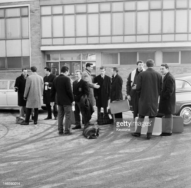 The Tottenham Hotspur football team at White Hart Lane London 3rd March 1963 They are about to leave for Czechoslovakia to play a European Cup...