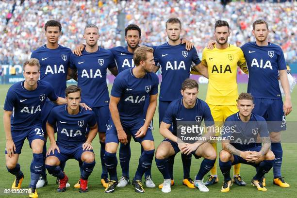The Tottenham Hotspur starters pose for a photo prior to the match against Manchester City in the International Champions Cup 2017 at Nissan Stadium...