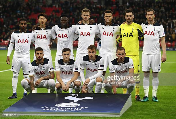 The Tottenham Hotspur team pose for a photograph pre match during the UEFA Champions League Group E match between Tottenham Hotspur FC and PFC CSKA...