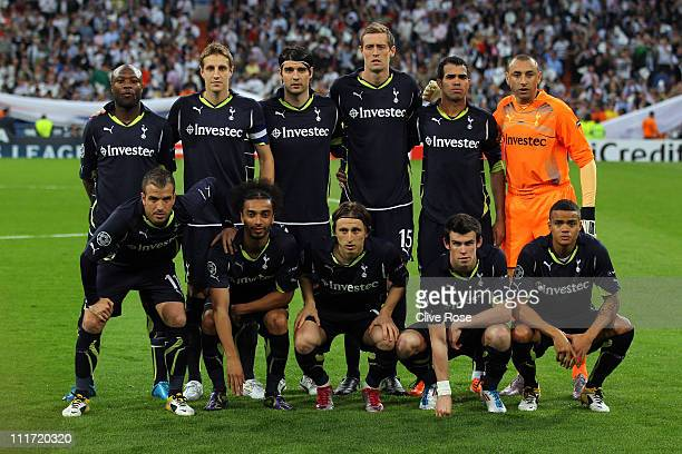 The Tottenham Hotspur team William Gallas Michael Dawson Vedran Corluka Peter Crouch Raniere Sandro and Heurelho Gomes Rafael Van der Vaart Benoit...